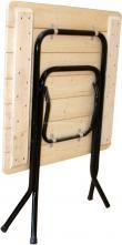 Стол складной квадратный 600х600 Ривьера Массив