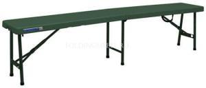 Складная пластиковая скамейка 1810х305х435 зеленая
