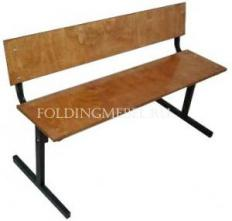 Скамейка со спинкой 120см