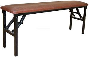 Скамейка складная мягкая 1200х300 Тамада