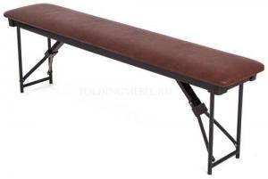 Скамейка складная мягкая 1500х300