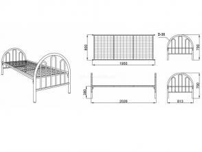 Кровать односпальная К 5.2
