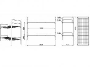 Кровать двухъярусная Д 8.1