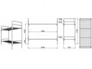 Кровать двухъярусная Д 9.2.