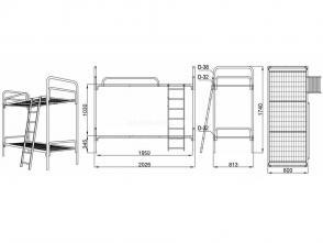Кровать двухъярусная Д 9.2.1