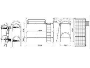 Кровать двухъярусная Д 9.2.2