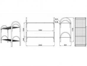 Кровать двухъярусная Д 9.3