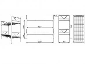 Кровать двухъярусная Д 10.2