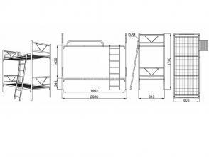 Кровать двухъярусная Д 10.2.2