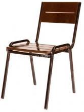 Реечный стопируемый стул